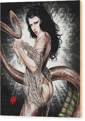 Genesis 3 17 5 Wood Print by Pete Tapang