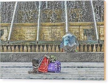 Genoa Sweet Hitchhiker In De Ferrari Square Wood Print by Enrico Pelos