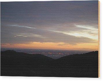 Gentle Sunrise Above Boulder Photo Wood Print