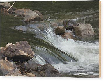 Wood Print featuring the photograph Gently Down The Stream by John Crothers