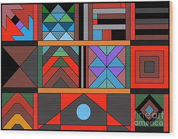 Geometric 2 Wood Print by Vilas Malankar