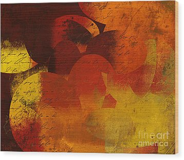 Geomix 05 - 02at02b Wood Print by Variance Collections