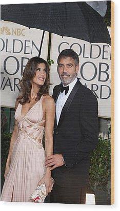 George Clooney, Elisabetta Canalis Wood Print by Everett