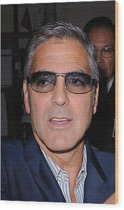 George Clooney, Leaves The Live With Wood Print by Everett