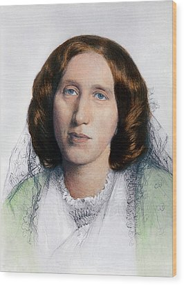 George Eliot 1819-1880 Was Born Mary Wood Print by Everett