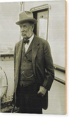 George F. Baker Sr., Wealthy American Wood Print by Everett