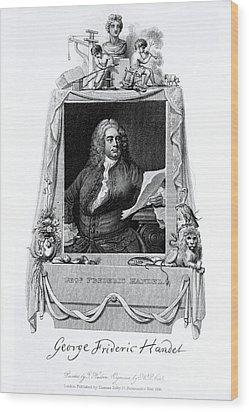 George Frideric Handel, German Baroque Wood Print by Omikron