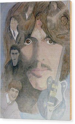 George Harrison Give Me Love Give Me Hope Wood Print by Christian Lebraux Kennedy