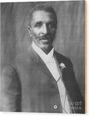 George W. Carver, African-american Wood Print by Science Source