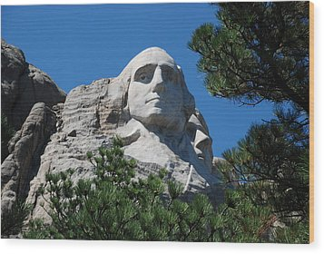 George Washington Face  Wood Print by Dany Lison