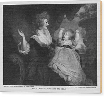 Georgiana, Duchess Of Devonshire Wood Print by Miriam And Ira D. Wallach Division Of Art, Prints And Photographsnew York Public Library