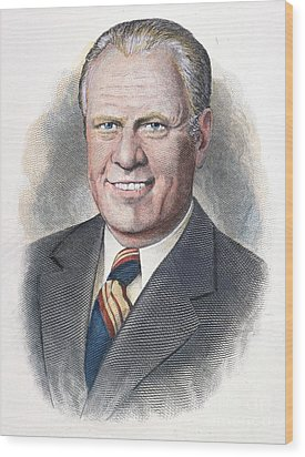 Gerald Ford (1913-2006) Wood Print by Granger
