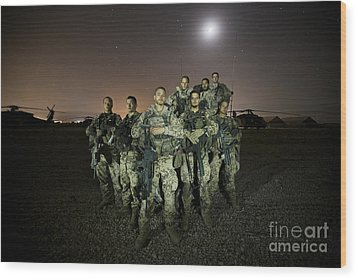 German Army Crew Poses Wood Print by Terry Moore