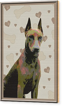 German Pinscher Wood Print by One Rude Dawg Orcutt