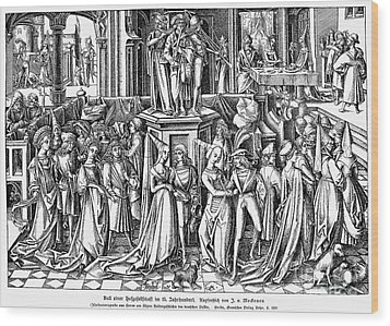 Germany: Medieval Ball Wood Print by Granger
