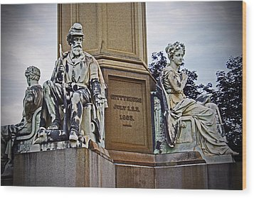 Wood Print featuring the photograph Gettysburg National Cemetery by Randall  Cogle