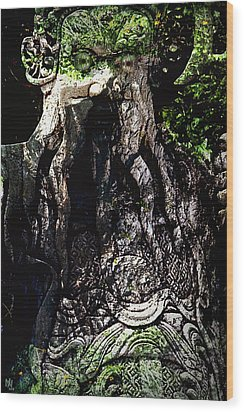 Ghillie Dhu Wood Print by Nafets Nuarb