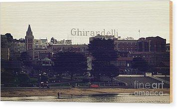 Ghirardelli Square Wood Print by Linda Woods