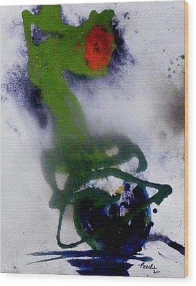 Ghost Flower Wood Print