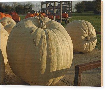 Ghost Pumpkin Wood Print by LeeAnn McLaneGoetz McLaneGoetzStudioLLCcom