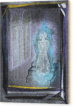 Ghost Stories Haunted Stairs Wood Print by First Star Art