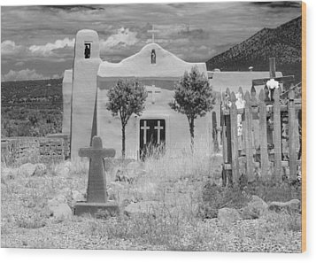Ghost Town Church Wood Print by Sonja Quintero