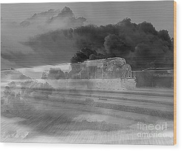 Ghost Train Wood Print