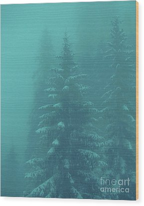 Ghostly Trees In Oils Wood Print by Al Bourassa