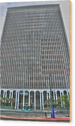 Wood Print featuring the photograph Giant Bank Of M And T by Michael Frank Jr
