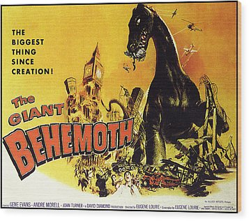 Giant Behemoth, The, 1959 Wood Print by Everett