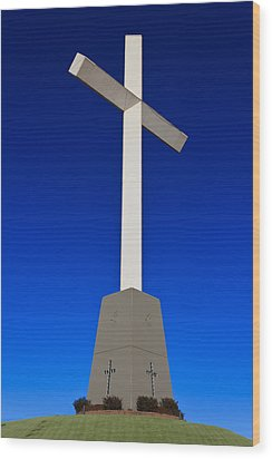 Giant Cross Wood Print by Doug Long