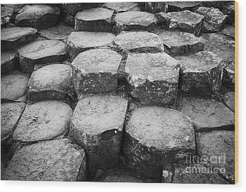 Giants Causeway Stones Northern Ireland Wood Print by Joe Fox