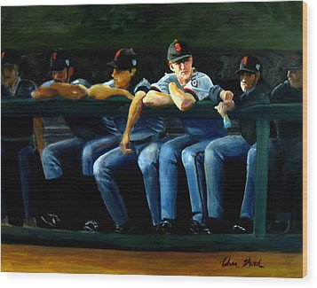 Giants Dugout Wood Print by Char Wood