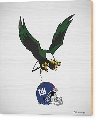 Giants Suck Wood Print by Bill Cannon