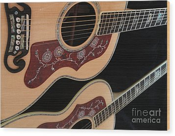 Gibson Sj200 Wood Print by Edward R Wisell