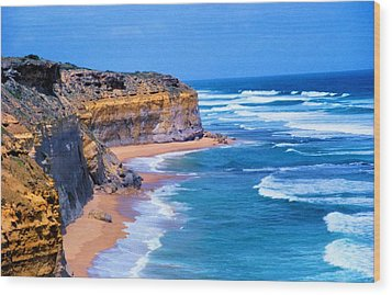 Gibson's Beach In Australia Wood Print by Dennis Lundell