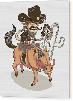 Giddy Up Wood Print by Michael Myers