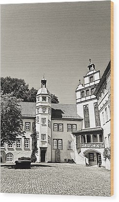 Gifhorn Castle Wood Print by Benjamin Matthijs