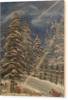 Gift For Santa Wood Print by Mary DeLawder