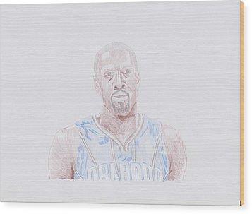 Gilbert Arenas Wood Print by Toni Jaso