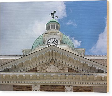 Giles County Courthouse Details Wood Print by Kristin Elmquist