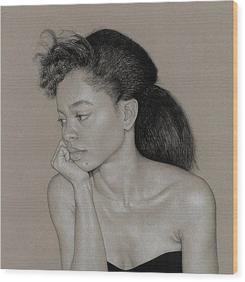 Gillian 1 Wood Print by David Kleinsasser