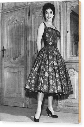 Gina Lollobrigida, 1950s Wood Print by Everett