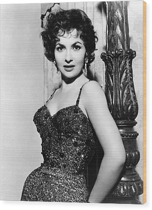 Gina Lollobrigida, Ca. 1956 Wood Print by Everett