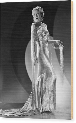 Ginger Rogers, Ca. 1930s Wood Print by Everett