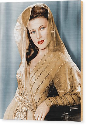 Ginger Rogers In Paramount Studio Wood Print by Everett