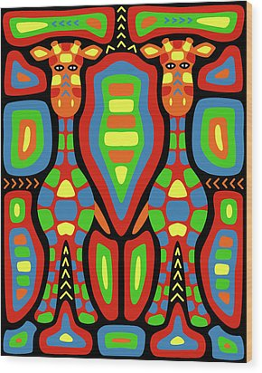 Giraffe Mola Wood Print