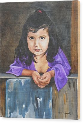 Wood Print featuring the painting Girl From San Luis by Lori Brackett