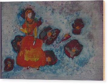 Girl From Shiraz Wood Print