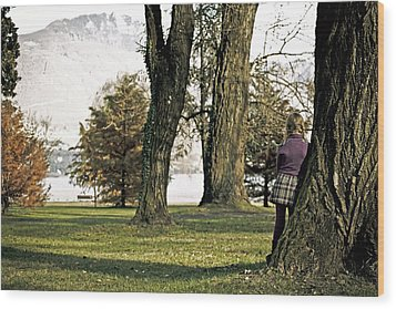 Girl In Autumn Wood Print by Joana Kruse